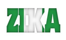 Inristad ZIKA-text Arkivfoto