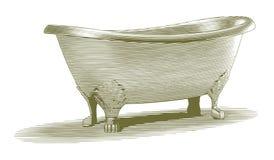 Inristat badkar Arkivfoto