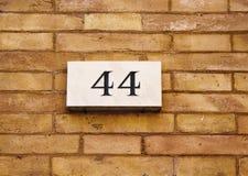 Inristat byggnadsnummer royaltyfri fotografi