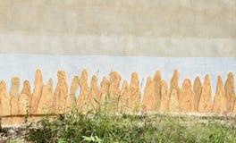 Inristat på en vägg Royaltyfri Foto