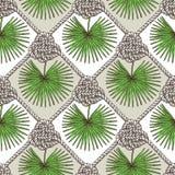 Inristat palmblad och rep stock illustrationer