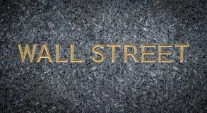 Inristat Wall Street tecken royaltyfria foton