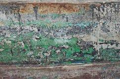 Inrotad målarfärg av ett gammalt fartyg Arkivfoton