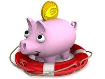Insättningförsäkring i euro Begrepp royaltyfri illustrationer