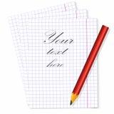 Insérez le texte et recevez le premier message dans le carnet illustration de vecteur