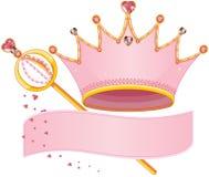 Insígnia real real ilustração royalty free