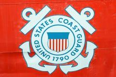 Insígnias da guarda costeira de Estados Unidos fotografia de stock