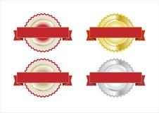 Insígnias do certificado da garantia Imagem de Stock Royalty Free