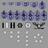 Insígnias do Rank da força aérea de E.U. - textura da tela Imagens de Stock