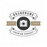 Insígnias retros do vintage ou projeto do vetor do Logotype Foto de Stock Royalty Free