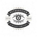 Insígnias retros do vintage ou projeto do vetor do Logotype Imagens de Stock Royalty Free