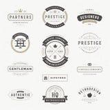 Insígnias retros ou Logotypes do vintage ajustadas Imagem de Stock Royalty Free