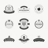 Insígnias retros ou Logotypes do vintage ajustadas Fotos de Stock Royalty Free