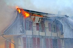INS 5 πυρκαγιάς Στοκ Φωτογραφίες