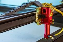 Ins abierto de los materiales de la cortadora del laser del corte de la cabeza de la marcha lenta fina del haz Imagen de archivo libre de regalías