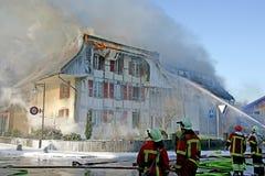 ins för 4 brand Arkivbild