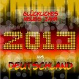 Ins neue Jahr aus Deutschland van Rutsch van Guten Stock Afbeeldingen