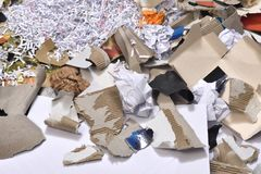 Ins a paper recycling container. Inside of a paper recycling container Stock Image