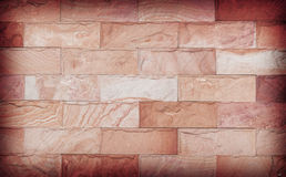 Insabbi la struttura della parete di pietra e il ackground di decora, colore marrone Fotografia Stock