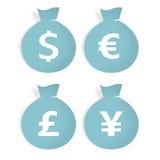 Insacca la valuta Immagini Stock Libere da Diritti
