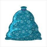 Insacchi sacco blu ded del gelo del padre di Santa Claus del Russo del moroz- il grande Immagini Stock