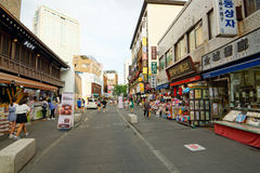 Insadong Street, Seoul, Korea stock photography