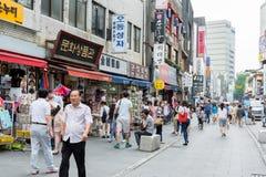 Insadong Street in Seoul, South Korea Royalty Free Stock Photo