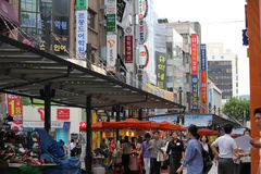Insadong streets Royalty Free Stock Photos