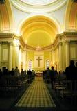 Insaide una iglesia fotografía de archivo