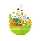 Insalata - alimento biologico sano illustrazione di stock