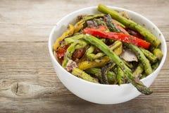 Insalata arrostita dell'asparago Fotografia Stock