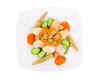 Insalata calda della carne con le verdure Fotografia Stock