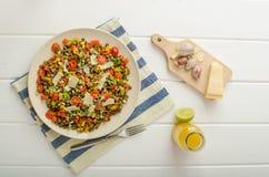 Insalata calda delle lenticchie, bio- sano fotografia stock