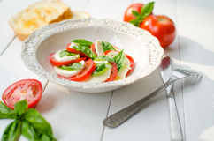 Insalata Caprese stock images