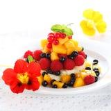 Insalata con frutta fresca e le bacche Fotografia Stock Libera da Diritti