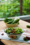 Insalata con gli ortaggi freschi e la lattuga Immagine Stock Libera da Diritti