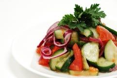 Insalata con il cetriolo ed i pomodori Immagini Stock