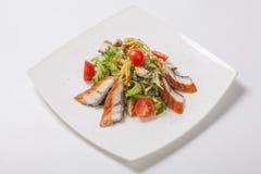 insalata con il pesce arrostito Fotografia Stock