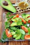 Insalata con il pomodoro e l'avocado Fotografie Stock