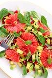 Insalata con il pompelmo e l'avocado Fotografia Stock Libera da Diritti