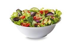 Insalata con lattuga e le verdure Immagini Stock