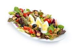Insalata con le verdure miste e le uova Fotografia Stock