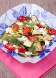 Insalata con lo zucchini arrostito Fotografie Stock