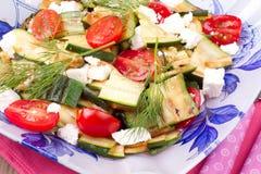 Insalata con lo zucchini arrostito Fotografia Stock