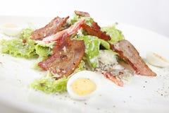 Insalata con pancetta affumicata Fotografia Stock