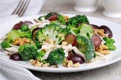 Insalata dei broccoli con il pollo Fotografia Stock Libera da Diritti