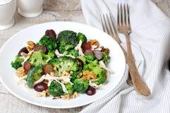 Insalata dei broccoli con il pollo Fotografia Stock