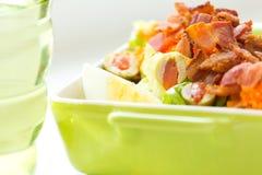 Insalata del bacon e dell'uovo Fotografia Stock