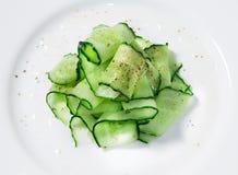 Insalata del cetriolo con le erbe Fotografia Stock