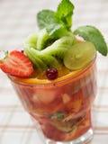 Insalata del cocktail di frutta Fotografia Stock